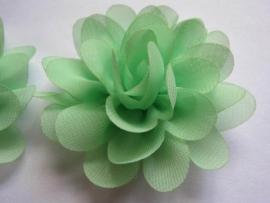 bloem chiffon mint groen 8 cm
