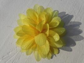 Glitter Bloem geel 7 cm