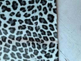 leer panter/tijger zwart grijs 20x30 cm