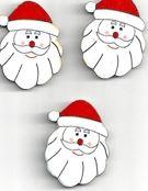 Flatback kerstman 1