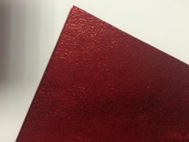 Leer metallic slangen print fijn rood