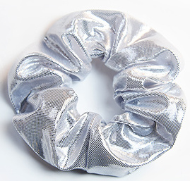 Scrunchies Haarwokkel zilver