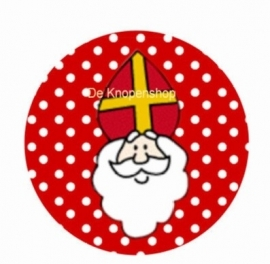 Flatback Sint polka dot rood (K198)