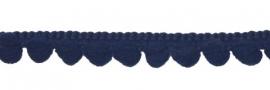 Mini pompomband marine blauw