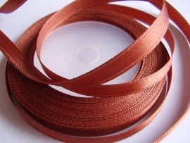 SB018 Satijnband koper 6 mm