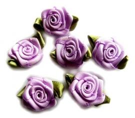 Roosjes met blad licht lila 2cm