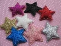 Ster glitter 3.5 cm kies jou kleur