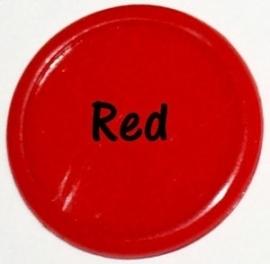 Plastic CAPS rood