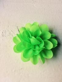 Chiffon bloem neon groen 5,5 cm