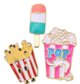 Broches/Pins popcorn-ijs-friet