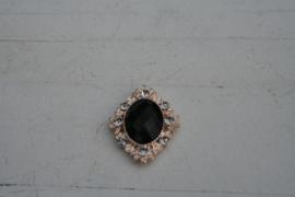 Flatback rhinestone zwart