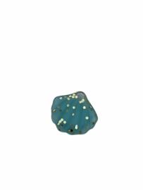 Flatback kraal schelp mint blue glitter goud