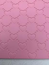 Leer hartjes  roze