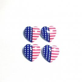 Knoop hart met amerikaanse vlag