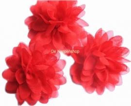Chiffon bloem  rood 6,5cm