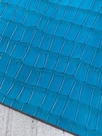 krokodillenprint leer blue 20x30cm