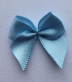 Zelfklevende (plak) strikje lichtblauw