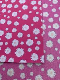 Leer  madeliefje roze