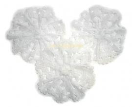 Kanten bloem wit pst 4,5cm