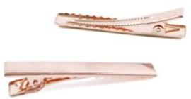 Alligator knip Rose goud 4cm