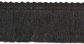 Franjeband zwart 30 mm