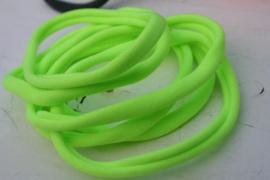 Haarbandje nylon neon groen/geel