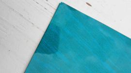 Leer glimmend glitter/streep motief ocean blue