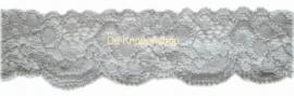 Elastisch kant (haarbandjes) grijs 3.5cm