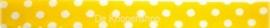 Satijnband geel met stippen 6mm