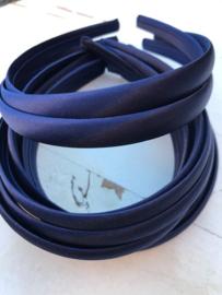Diadeem donkerblauw 1.5 cm