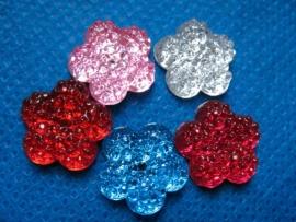 Flatback bloem diamant