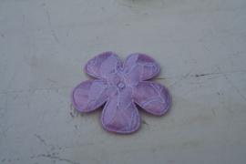 Bloem satijn/kant lila 4.7cm