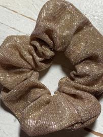 Scrunchie Haarwokkel goud glitter
