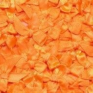 Satijnen strikjes fel oranje