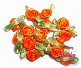 Mini roosje oranje  pst
