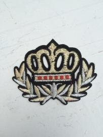 Patches kroon goud/zilver opstrijkbaar
