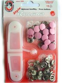 Drukknoopjes baby roze