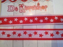 Sterrenband rood tweezijdig