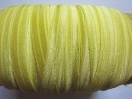 Elastisch biasband geel(haarband) 1,5cm