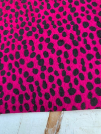 leer vacht panter/tijger neon roze  20x30 cm