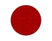 Wol vilten rondjes rood 2.5cm pst