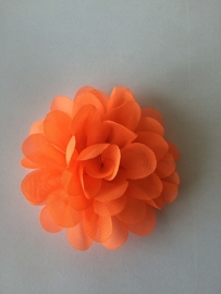 Chiffon bloem neon oranje 7cm