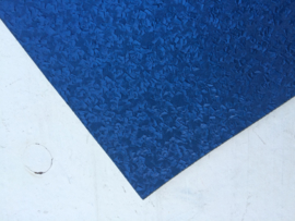 Leer parelmoer royal blue/cobalt blauw