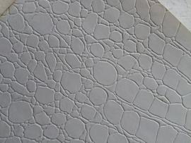 krokodillenprint leer wit 20x22 cm