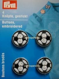 Geborduurde knoopjes voetbal