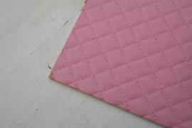 Leer doorstik motief licht roze
