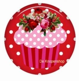 Flatback cupcake roze (K791)