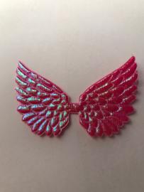Vleugels pink glimmend