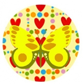 Flatback vlinder hart rood