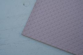 Leer kruisjes motief licht roze